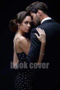cover photos romantic couple on black background
