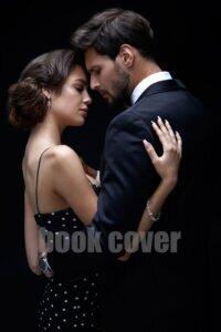 romantic couple on black background